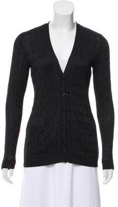 Ralph Lauren Cable Knit Silk Cardigan