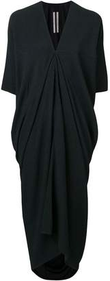 Rick Owens draped front v neck dress