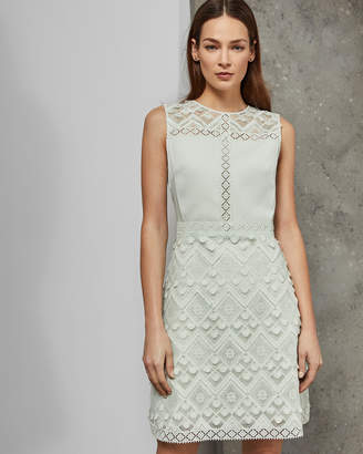 Ted Baker BUTRCP A-line geo lace dress