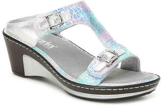 Women's Pretty Baby Wedge Sandal -Silver Metallic/Multicolor $109.95 thestylecure.com