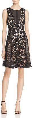 Adelyn Rae Loretta Illusion-Inset Lace Dress $125 thestylecure.com