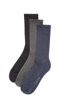 Calvin Klein Underwear 3 Pack Cushion Sole Crew Socks $22 thestylecure.com