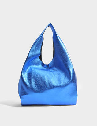 Maison Margiela Shopping Bag in Bluette Leather
