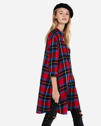 Express Plaid Flannel Duster
