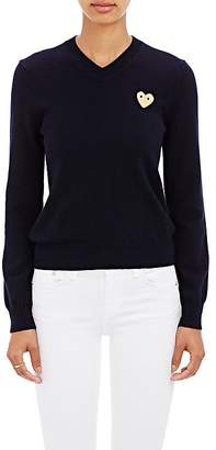 Comme des Garcons Women's Playful Heart V-Neck Sweater