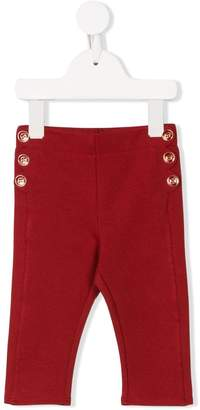 Chloé Kids scalloped-detail leggings