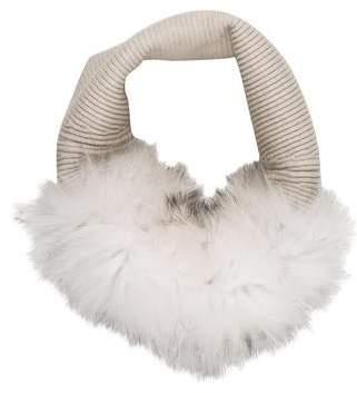 Yves Salomon Fur-Trimmed Infinity Scarf