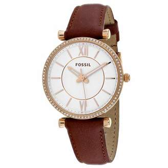 Fossil Women's 'Carlie' Quartz Stainless Steel and Leather Casual Watch