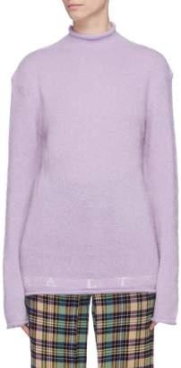 Aalto Logo intarsia brushed roll neck sweater