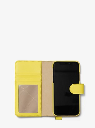 0c870410e09e MICHAEL Michael Kors Embellished Leather Hand-Strap Folio Case For iPhone  X/XS