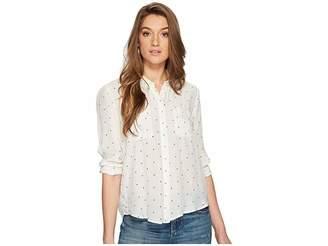 Lucky Brand Button Down Shirt Women's Long Sleeve Button Up