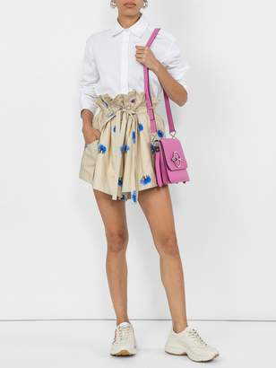 Natasha Zinko Printed paper bag shorts