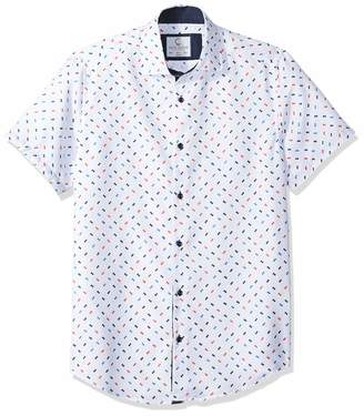9bd58e56 Azaro Uomo Men's Big and Tall Short Sleeve Button Down Shirt Casual Dress  Loud Slim Fit