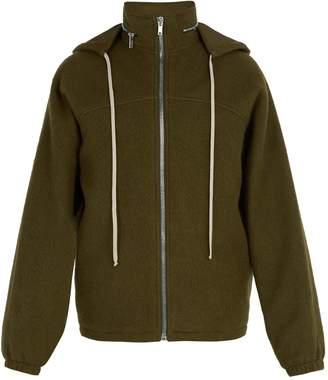 Rick Owens Zip-through boiled-wool windbreaker