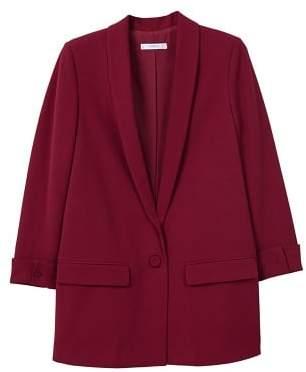 MANGO Shawl collar structured blazer