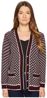 Kate Spade Finer Things Diamond Boyfriend Cardigan Women's Sweater
