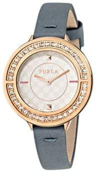 Furla Club White Dial Calfskin Leather Watch