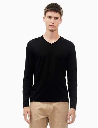 f06584c07ec Calvin Klein new essentials slim fit v-neck long sleeve shirt