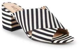 Sam Edelman Stanley Striped Block Heel Mules