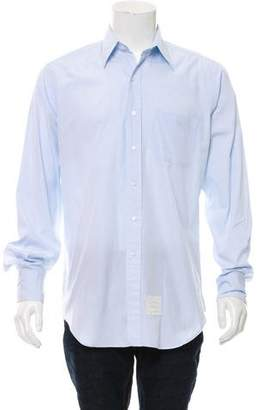 Thom Browne Point Collar Button-Up Shirt