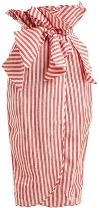 JOHANNA ORTIZ Striped paperbag-waist skirt