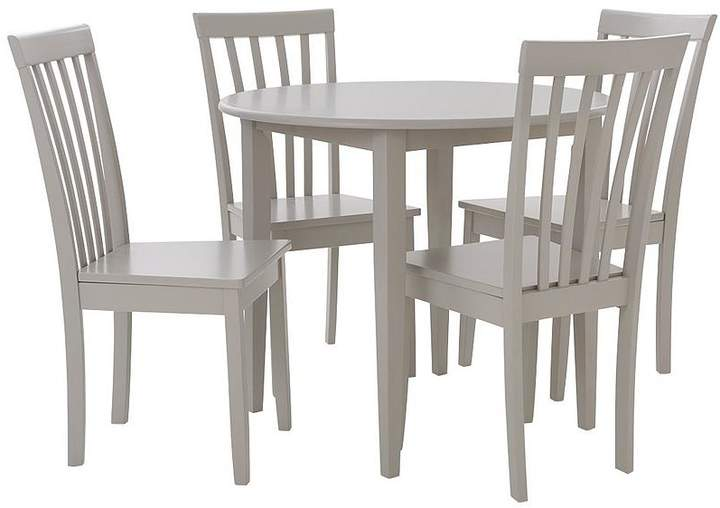 Sophia 90 Cm Round Dining Table + 4 Chairs - Grey