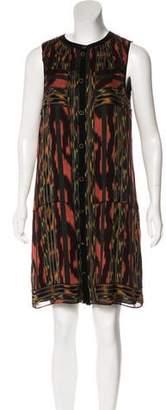 Proenza Schouler Ikat Sleeveless Knee-length Dress