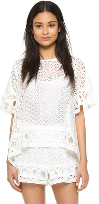 ENGLISH FACTORY Lace Blouse $84 thestylecure.com