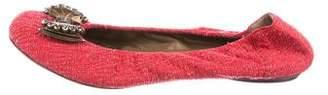 Marni Embellished Round-Toe Flats