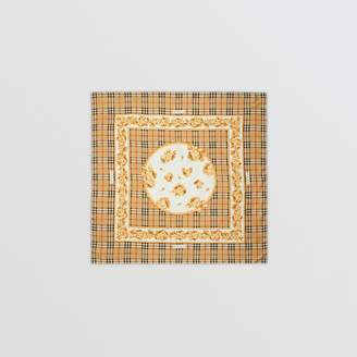 Burberry Archive Scarf Print Silk Square Scarf