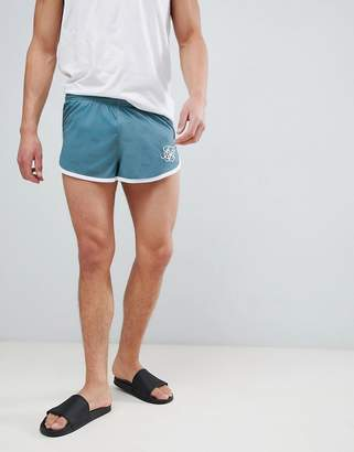 SikSilk shadow silk sprinter shorts in teal