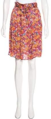 RED Valentino Floral Silk Skirt