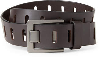 Calvin Klein Slotted Notch Leather Belt