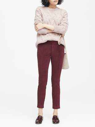 Banana Republic Sloan Skinny-Fit Solid Velvet Ankle Pant