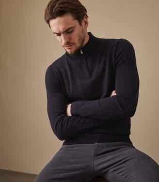 Reiss Blackhall Merino Wool Zip Neck Jumper