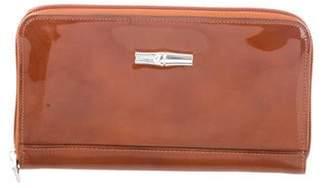 Longchamp Patent Leather Zip Wallet