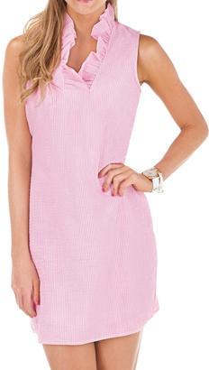 Mud Pie Pink Seersucker Dress $58 thestylecure.com