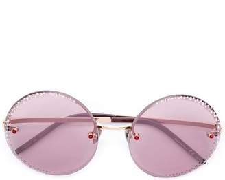 Pomellato Eyewear round rhinestone embellished sunglasses