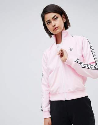 Fred Perry Track Jacket With Logo Tape