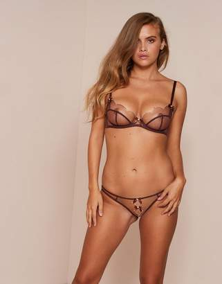 Agent Provocateur Lorna Ouvert Brown And Peach