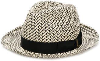 Borsalino woven fedora hat