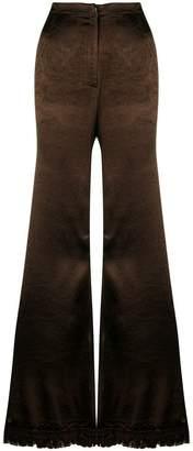 Marni frayed flared trousers