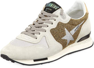 Golden Goose Running Glitter Sneakers
