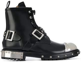 Alexander McQueen metal toecap boots