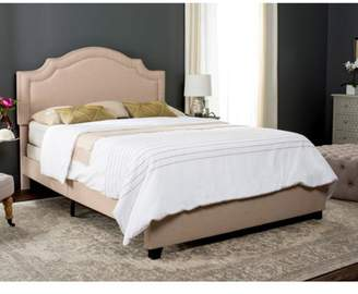 Safavieh Theron Bed with Nail Heads, Available in Multiple Colors and Sizes