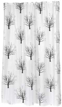 Carnation Home Fashions Extra Long Emma Fabric Shower Curtain Size 70 Wide