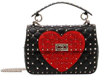 Valentino Spike.It Medium Quilted Heart Shoulder Bag