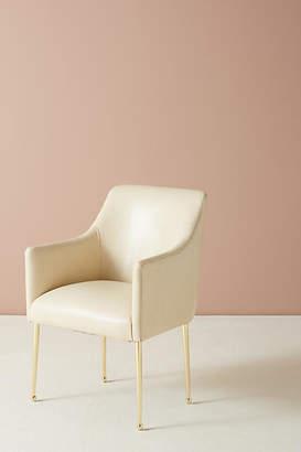 Anthropologie Premium Leather Elowen Armchair