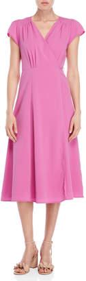 Romeo & Juliet Couture Romeo + Juliet Couture Solid Wrap Midi Dress