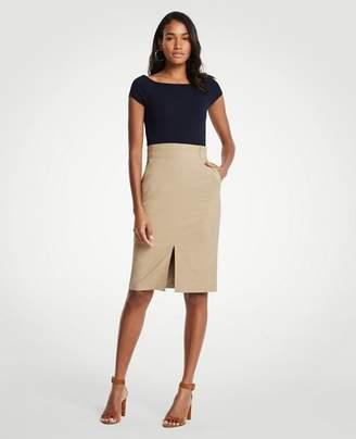 Ann Taylor Pleated Waist Pencil Skirt